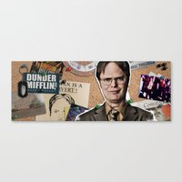 dwight schrute Canvas Prints featuring Dwight Schrute  by Susan Lewis