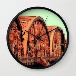 BROADWAY BRIDGE - PORTLAND OREGON Wall Clock
