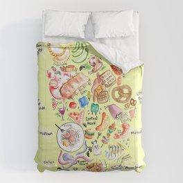 Map of Manhattan  Comforters