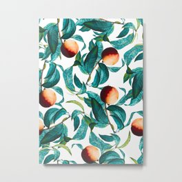 Fruit and Leaf Pattern Metal Print