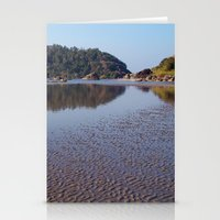 monkey island Stationery Cards featuring Across the Water to Monkey Island, Palolem by Serenity Photography