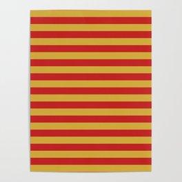 Montenegro flag stripes Poster
