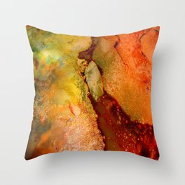 Burning Earth Series Throw Pillow