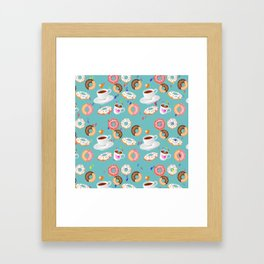 Coffee and Doughnuts Framed Art Print