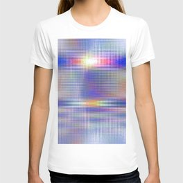blue rhombus T-shirt