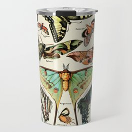 Papillon I Vintage French Butterfly Charts by Adolphe Millot Travel Mug