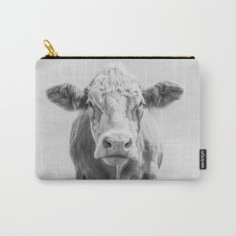 Cow Portrait Minimalism | Farm animal Carry-All Pouch