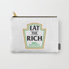 Eat The Rich Ketchup Label Carry-All Pouch
