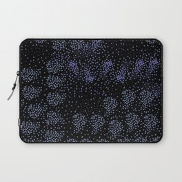 Blue circle on black Laptop Sleeve