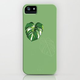 house monstera iPhone Case