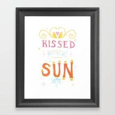Kissed Framed Art Print