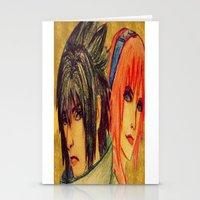 sasuke Stationery Cards featuring Uchiha Sasuke & Haruno Sakura  by Aileen