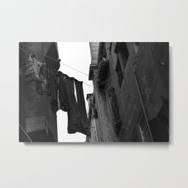 Clothesline in Alley - Venice, Italy Metal Print