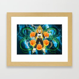 Vegeta Super Saiyan Framed Art Print