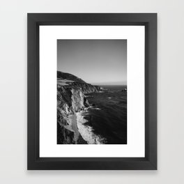 Monochrome Big Sur Framed Art Print