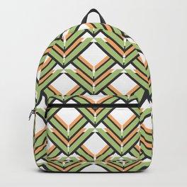 Orange & Green Pattern Backpack