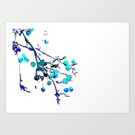 Blue Branch Art Print