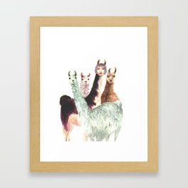 Alison and the Llama Sisters Framed Art Print