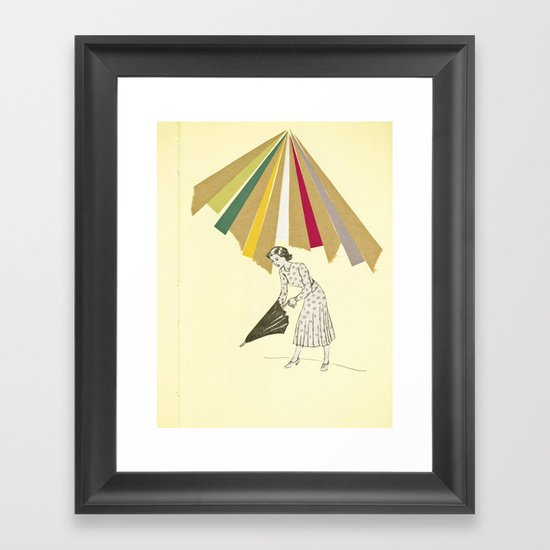 Downpour Framed Art Print