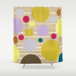 STRIPES & DOTS 4-2018 Shower Curtain