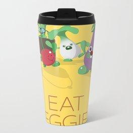 EAT VEGGIES Metal Travel Mug
