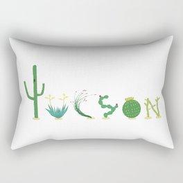 Tucson Cacti Letters Rectangular Pillow