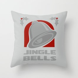 Jingle Bell - Silver Throw Pillow