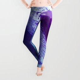 Grape and Deep Blue Smear Leggings