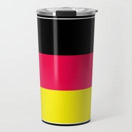 Striped , black , yellow , red Travel Mug
