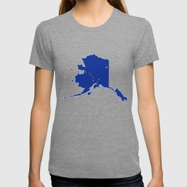 Alaska Map with Alaskan Flag T-shirt