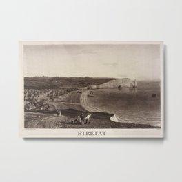 Etretat 1823 Metal Print