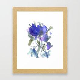 Bluest Blue Bloom Framed Art Print