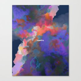 Tempête Canvas Print