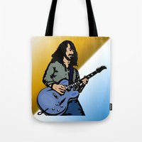 dave matthews Tote Bags featuring Dave by Kramcox