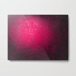 Orbital Cubes Pink Metal Print