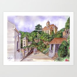 Port Meirion Art Print