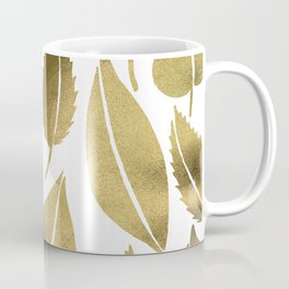 Cascading Leaves – Gold Palette Coffee Mug