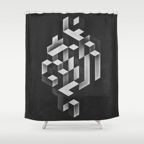 isyhyrrt gryy Shower Curtain