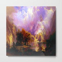 Albert Bierstadt Rocky Mountain Landscape Metal Print