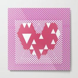 Heart pink Metal Print