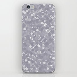 Lilac Gray Polka Dot Bubbles iPhone Skin