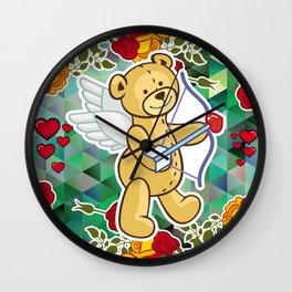 Cupid Bear Wall Clock