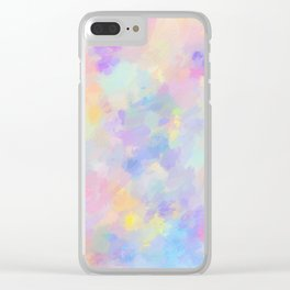 Secret Garden Colorful Abstract Impressionist Painting Pattern Clear iPhone Case