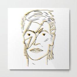 Bowie Print Metal Print