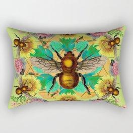Bee Mandala Rectangular Pillow
