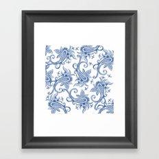 Paisley: Monaco Blue Framed Art Print