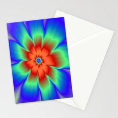 Orange Red Daisy Flower Stationery Cards