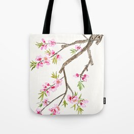 pink peach flowers Tote Bag