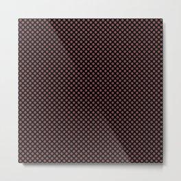 Black and Apple Butter Polka Dots Metal Print