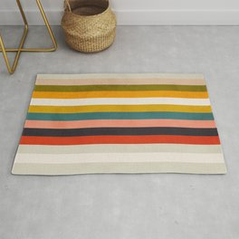 modern abstract stripe geometric Rug